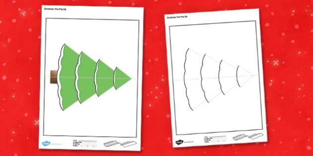 Christmas Tree Cards Ks1.Christmas Tree Pop Up Card Christmas Tree Pop Up Card