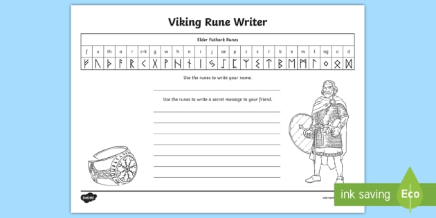 Viking Alphabet Worksheet - Primary Education Resource
