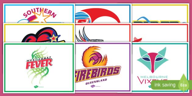 Australia Netball Teams Display Posters