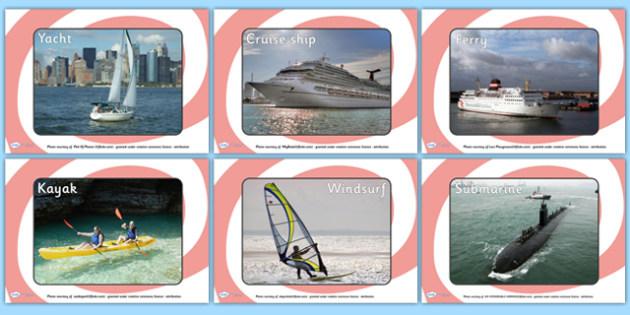 Sea Boats Transport Display Photos - display, photos, photo, set of photos, transport, sea, boats, transport display photos, sea display photos, sea transport photos, photos for display, classroom display