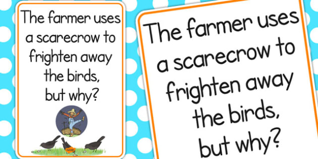 Scarecrow Scare Away Birds Poster - scarecrow, display, poster
