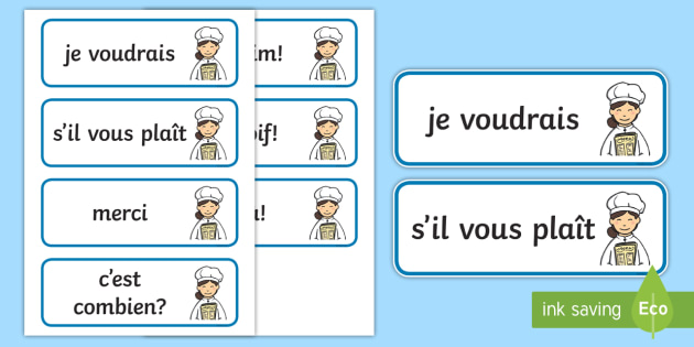 French Cafe Customer Cards - French Literacy Primary Resources,French,Languages,Literacy,Words