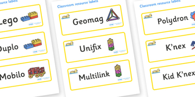Gosling Themed Editable Construction Area Resource Labels - Themed Construction resource labels, Label template, Resource Label, Name Labels, Editable Labels, Drawer Labels, KS1 Labels, Foundation Labels, Foundation Stage Labels