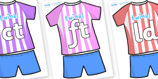 Final Letter Blends on Football Strip - Final Letters, final letter, letter blend, letter blends, consonant, consonants, digraph, trigraph, literacy, alphabet, letters, foundation stage literacy