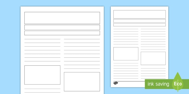 new newspaper report writing template creating text