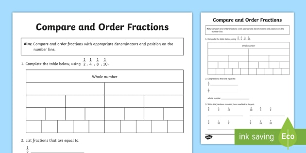 new  compare and order fractions worksheet  tenths eighths halves new  compare and order fractions worksheet  tenths eighths halves  quarters