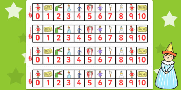 Punch and Judy Number Track 0 10 - Number, maths, tracks, punch