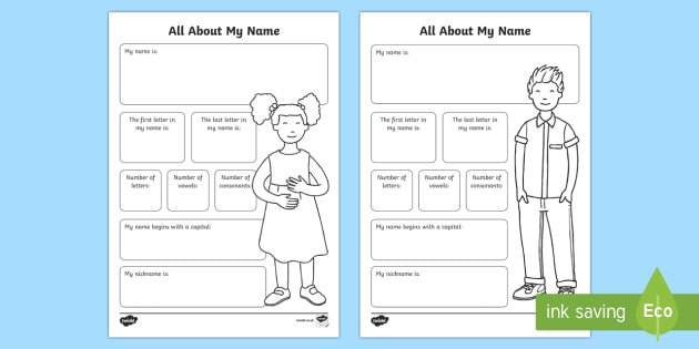 All About My Name Worksheet / Activity Sheet - Beginning of School Resources, back to school, name, student, all about my name, all about me, works
