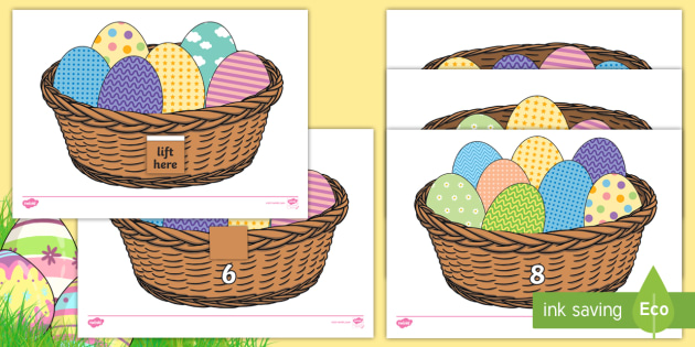 Easter Egg Estimate And Count Activity Sheets