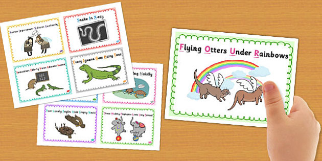 One to Twenty Mnemonics Flashcards - flash, visual aids, visual