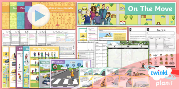 French: On the Move Year 4 Unit Pack