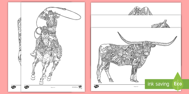stampede of horses coloring pages - photo#3