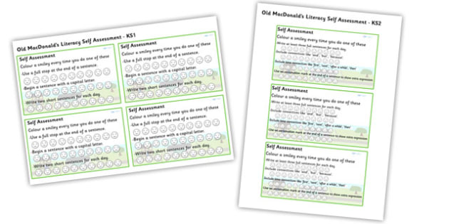 On The Farm Literacy Self Evaluation - on the farm, farm, on the farm self evaluation, on the farm literacy evaluation, on the farm smiley face evaluation