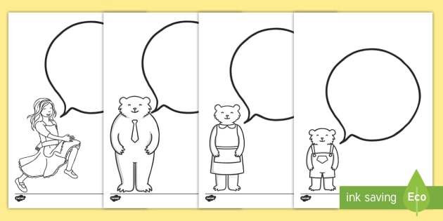 Goldilocks editable speech bubbles Worksheet / Worksheets ...