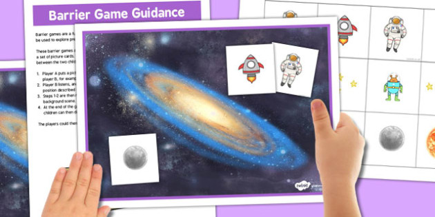 Space Barrier Game - space, barrier, game, activity, class, board