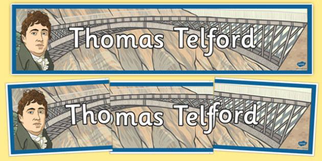 Scottish Significant Individuals Thomas Telford Display Banner - cfe, thomas telford, display banner