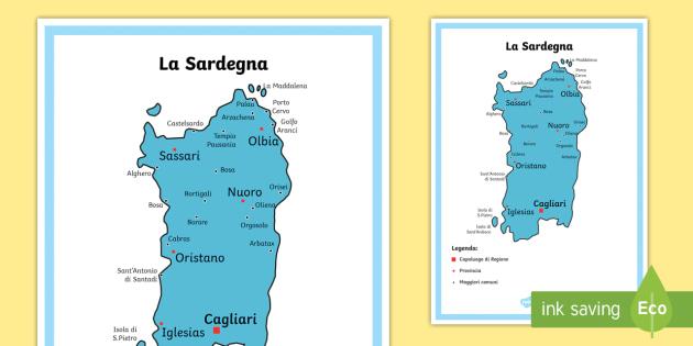 Palau Sardegna Cartina.Scuola Primaria La Sardegna Cartina Politica