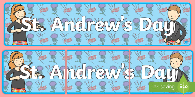 St Andrews Day Display Banner