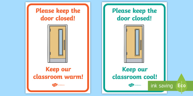 Close The Door >> Free Please Close The Door Sign Signs Displays Visual Aid