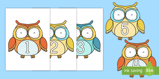 1-10 on Superb Owls - 1-10, superb owls, superb, owls, display, numbers, 1, 10, super bowl