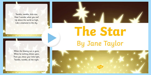The Star by Jane Taylor Poem PowerPoint