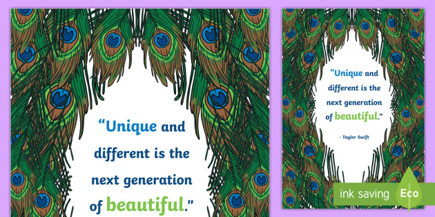 Proud Peacock Inspirational Quote by Swift Display Poster - bird, feather, color, colour, saying, inspiration, motivation, taylor swift, pop star