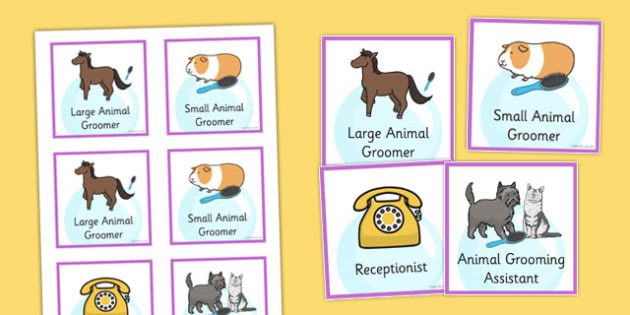 Pet Groomers Role Play Badges - pet groomers, role-play, badges