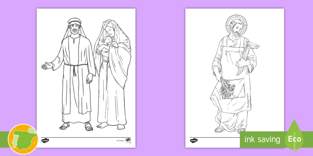 NEW * Hojas de colorear: San José - Religión, religioso