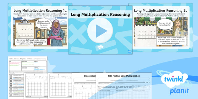 PlanIt Maths Y6 Addition, Subtraction, Multiplication and Division Lesson Pack Long Multiplication (4)