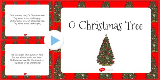 O Christmas Tree PowerPoint - o christmas tree, powerpoint, christmas carol, christmas