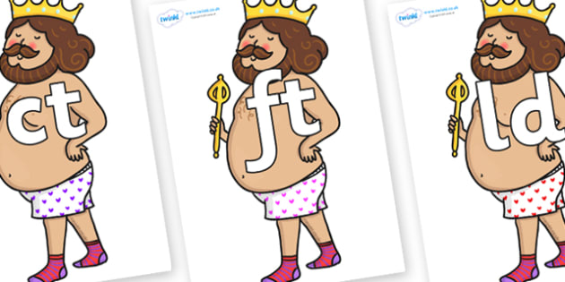 Final Letter Blends on Naked Emperor - Final Letters, final letter, letter blend, letter blends, consonant, consonants, digraph, trigraph, literacy, alphabet, letters, foundation stage literacy