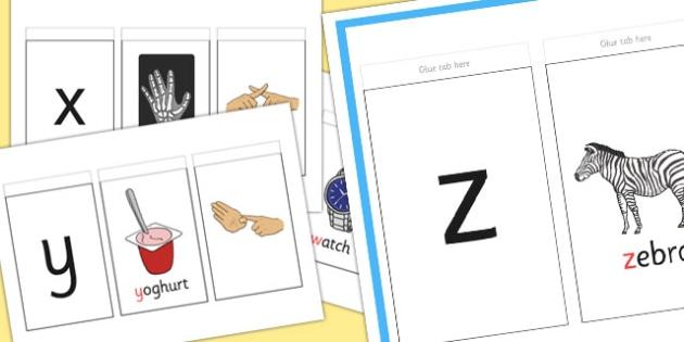 British Sign Language Left Handed Alphabet Sign And Flip Booklet