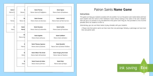 All Saints Day: Patron Saints Name Game