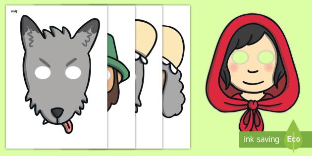 Little Red Riding Hood Role Play Masks Teacher Made