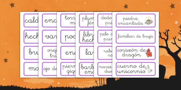 Tarjetas de vocabulario Magia