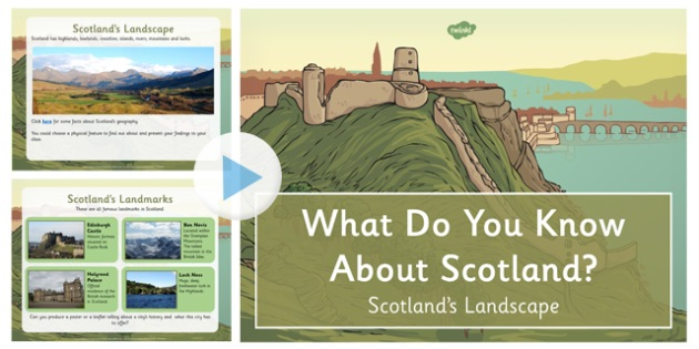 All About Scotland's Landscape PowerPoint NC