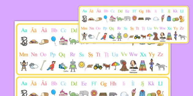 De la A la Z - Fâșii cu alfabetul