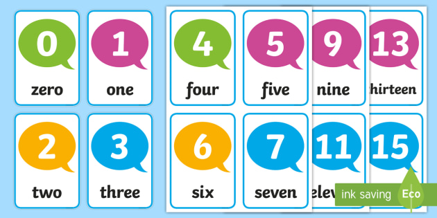 number flash cards 0-30 - card, numbers, numeracy, flash, 30