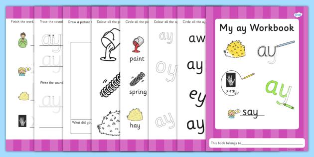 ay worksheets graphemes phase five phases literacy – Ay Worksheets