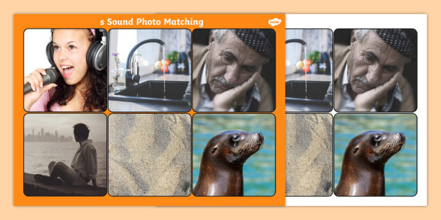 Initial s Sound Photo Matching Board and Cards - sounds, phonics, s sound