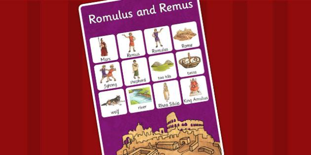 Romulus and Remus Vocabulary Mat - vocab mat, romans, rome, vocab
