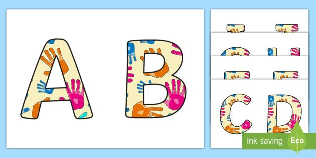 Cursive Display Lettering Symbols Handprints