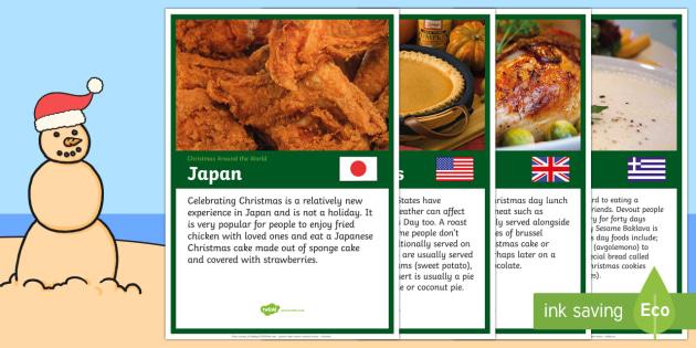 Christmas Food Around The World A4 Display Poster Australia Christmas Australia Food