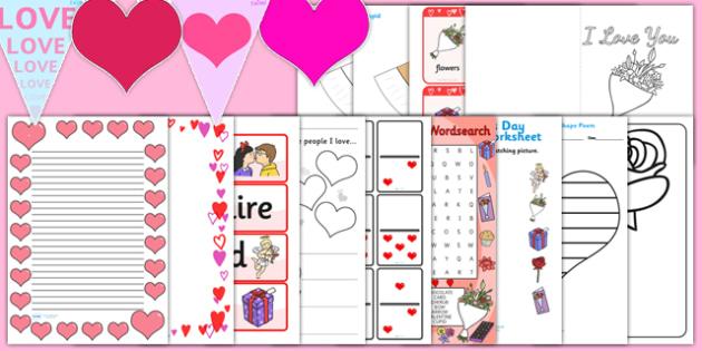 Valentine's Day Resource Pack - valentines day, resource, pack