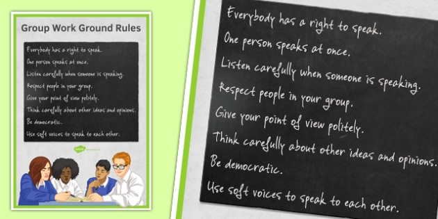 Group Work Ground Rules Poster - group work, ground rules, poster, display