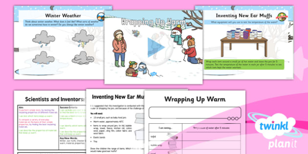 Science: Scientists and Inventors: Wrapping Up Warm Year 1 Lesson Pack 6