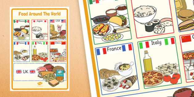 Large foods around the world poster large food around the large foods around the world poster large food around the world poster forumfinder Gallery