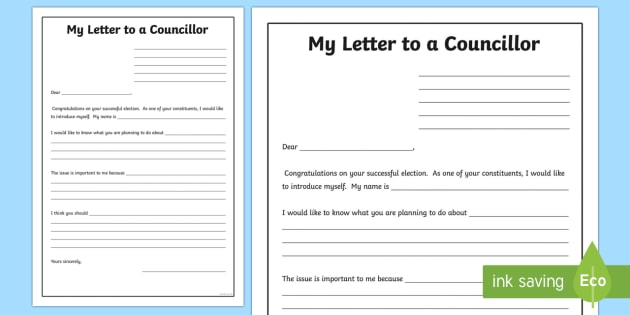 Scottish Local Elections 2017 A Letter to your New Councillor Writing Frames-Scottish -  Scottish Local Elections, Elections 2017, letter, writing frame, letter to councillor, election act