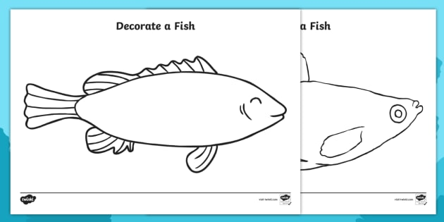 under the sea decorate a fish template under the sea under