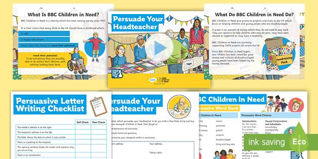 * NEW * KS2 BBC Children in Need: Persuasive Letter Writing Resource Pack